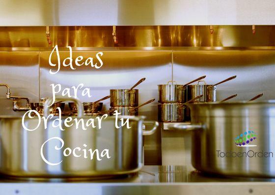 ideas para ordenar tu cocina
