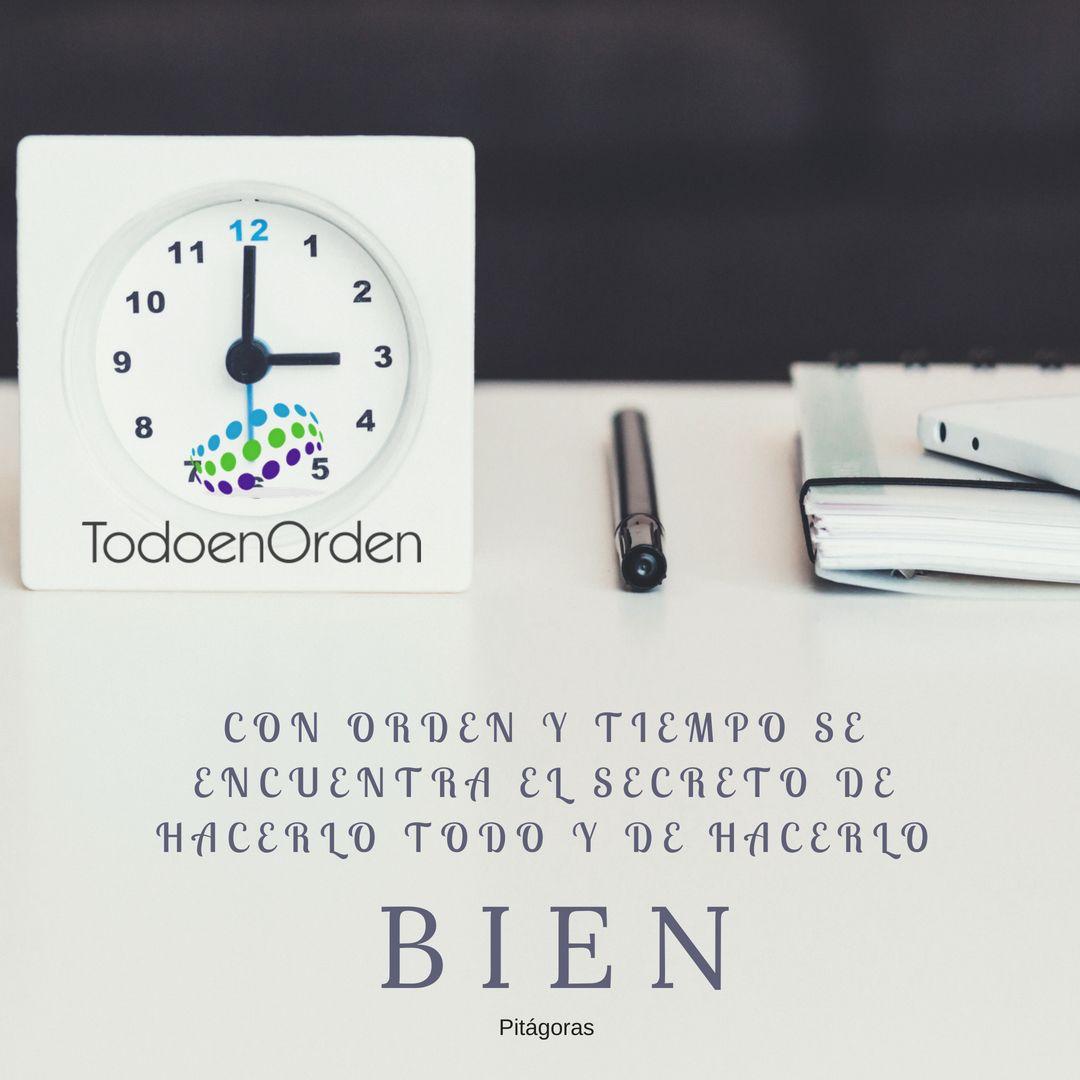 orden y tiempo